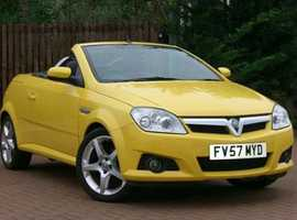 Sold Vauxhall Tigra, 2007 (57) Yellow Coupe, Manual Petrol, 62,000 miles