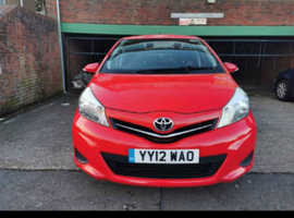Toyota Yaris, 2012 (12) Red Hatchback, Manual Diesel, 107,924 miles