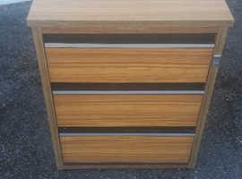 3 Drawer Pedestal, Excellent Condition