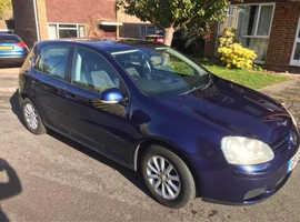 Volkswagen Golf, 2007 (07) Blue Hatchback, Manual Petrol, 106,500 miles