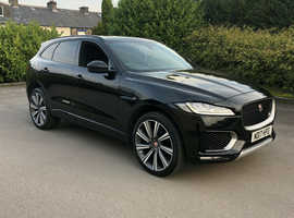 Jaguar F-PACE, 2017 (17) Black Estate, Automatic Diesel, 15,000 miles