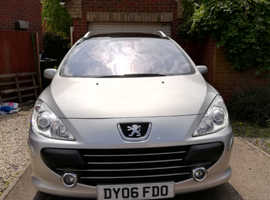 Peugeot 307, 2006 (06) Silver Estate, Manual Diesel, 126,000 miles