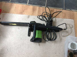 Job lot including electric chain saw, angle grinder pressure washer