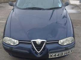 Alfa Romeo 156, 1999 (V) blue saloon, Manual Petrol, 53000 miles
