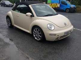 Volkswagen Beetle, 2005 (05) Beige Convertible, Manual Petrol, 113,500 miles