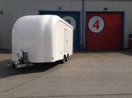 Prg trailer box enclosed car transporter Brian James iforwilliams caravan