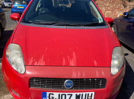 Fiat Grande Punto, 2007 (07) Red Hatchback, Manual Petrol, 113,019 miles