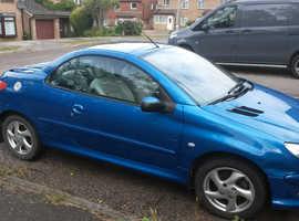 Peugeot 206 CC, 2005 (54) blue convertible, Manual Petrol, 110,112 miles