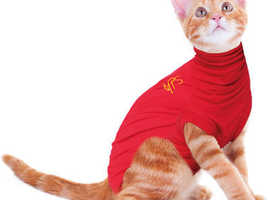 Red Medical Pet Shirt 2XS for cat or very little dog