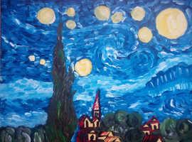 Starry night à la Vincent