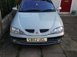 Renault Megane, 2002 (02) Silver Saloon, Automatic Petrol, 92,000 miles