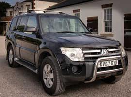 Mitsubishi Shogun, 2007 (57) Black Estate, Automatic Diesel, 108,000 miles