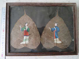 Victorian Era Hand Painted leaves