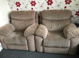 2 Single seat sofas
