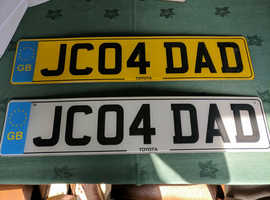 Personalised Number plate JC04 DAD