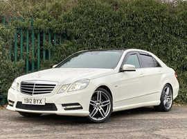 Mercedes E Class, 2012 (12) White Saloon, Automatic Diesel, 126,222 miles