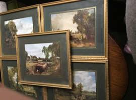 Vintage framed prints
