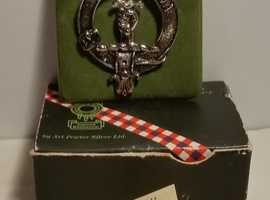vintage Scottish Clan Crest Badge, Macintyre