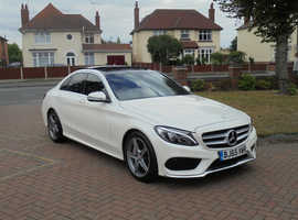 Mercedes C CLASS, 2015 (65) White Saloon, Automatic Diesel, 35,000 miles