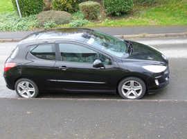 Peugeot 308, 2008 (57) Black Hatchback, Manual Petrol, 93,000 miles