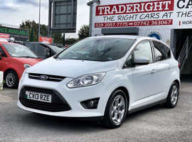 2013/13 Ford C-Max 1.6 TDCi Zetec finished in Frozen White.  75,510 miles