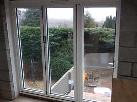 Aluminium Bifold door- BRAND NEW In White 3 leaf
