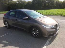 Honda Civic, 2013 (62) Brown Hatchback, Manual Diesel, 71,495 miles