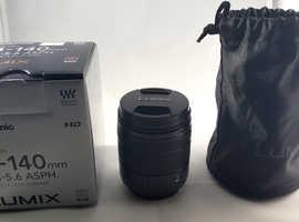 Panasonic G VARIO 14-140mm F3.5-5.6 Lens for Micro Four Thirds - Black.
