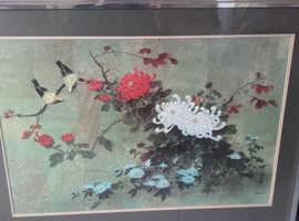 2 Hui Chi Mau large prints in silver frames