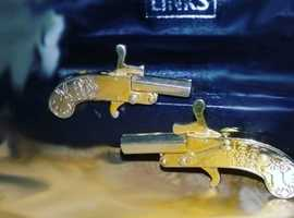 1950's Berloque Pistol cufflinks (extremely rare) only pair for sale in the UK!!!!!