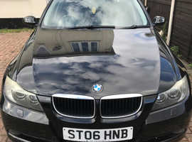 BMW 3 Series, 2006 (06) Black Saloon, Manual Petrol, 99,250 miles