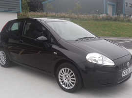 Fiat Grande Punto, 2009 (59) Black Hatchback, Manual Petrol, 72,179 miles