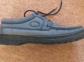 Luca Ferrari Italian made Blue Suede Shoes Size 8