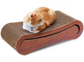 COSTWAY 2 in 1 Cat Kitten Corrugated Cardboard Post Lounge Scratcher (PS7026)