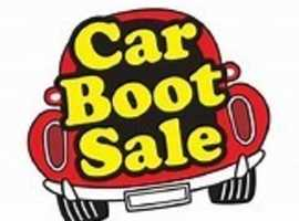 Cross Roads, near Keighley, Car Boot sale