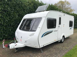 Sterling Europa 495 4 berth 2008 Caravan with Fixed Bed and Motor Movers