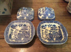 Chinese style dishes with lids