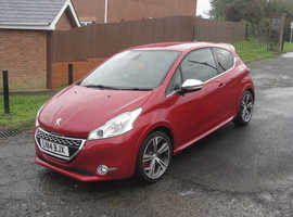 Peugeot 208, 2014 (14) Red Hatchback, Manual Petrol, 27,949 miles