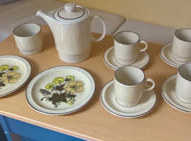 Unused, 16 piece Poole pottery 1970's tea, coffee, breakfast set
