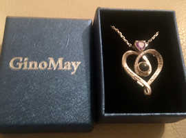 BRAND NEW, GINO MAY, AMETHYST SILVER HIDDEN MESSAGE PENDANT