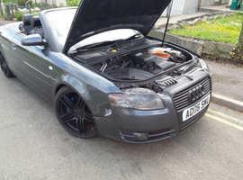 Audi A4, 2006 (06) Grey Convertible, Cvt Petrol, 98,362 miles