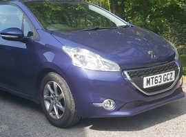 Peugeot 208, 2013 (63) Blue Hatchback, Manual Petrol, 61,000 miles