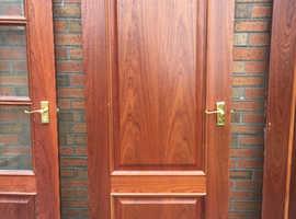 Interior solid hardwood doors