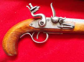 Full scale replica film prop 19th century flintlock pistol. New and boxed