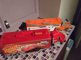 Hotwheels & Disney Cars Transporter's, bundle! Your kid will love them!