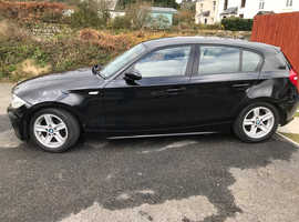 BMW 1 series, 2006 (06) Black Hatchback, Manual Diesel, 160,000 miles