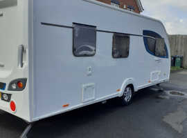 First Registered March 2018, 6 Berth Lightweight caravan in great condition, with Outwell Air Awning