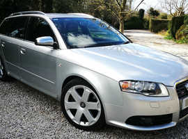 Audi A4, 2005 (54) Silver Estate, Automatic Petrol, 107,000 miles