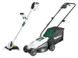 qualcast 20v cordless lawnmower & strimmer kit