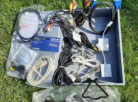 Joblot of modems, ADSL filters, USB cables & various other cables